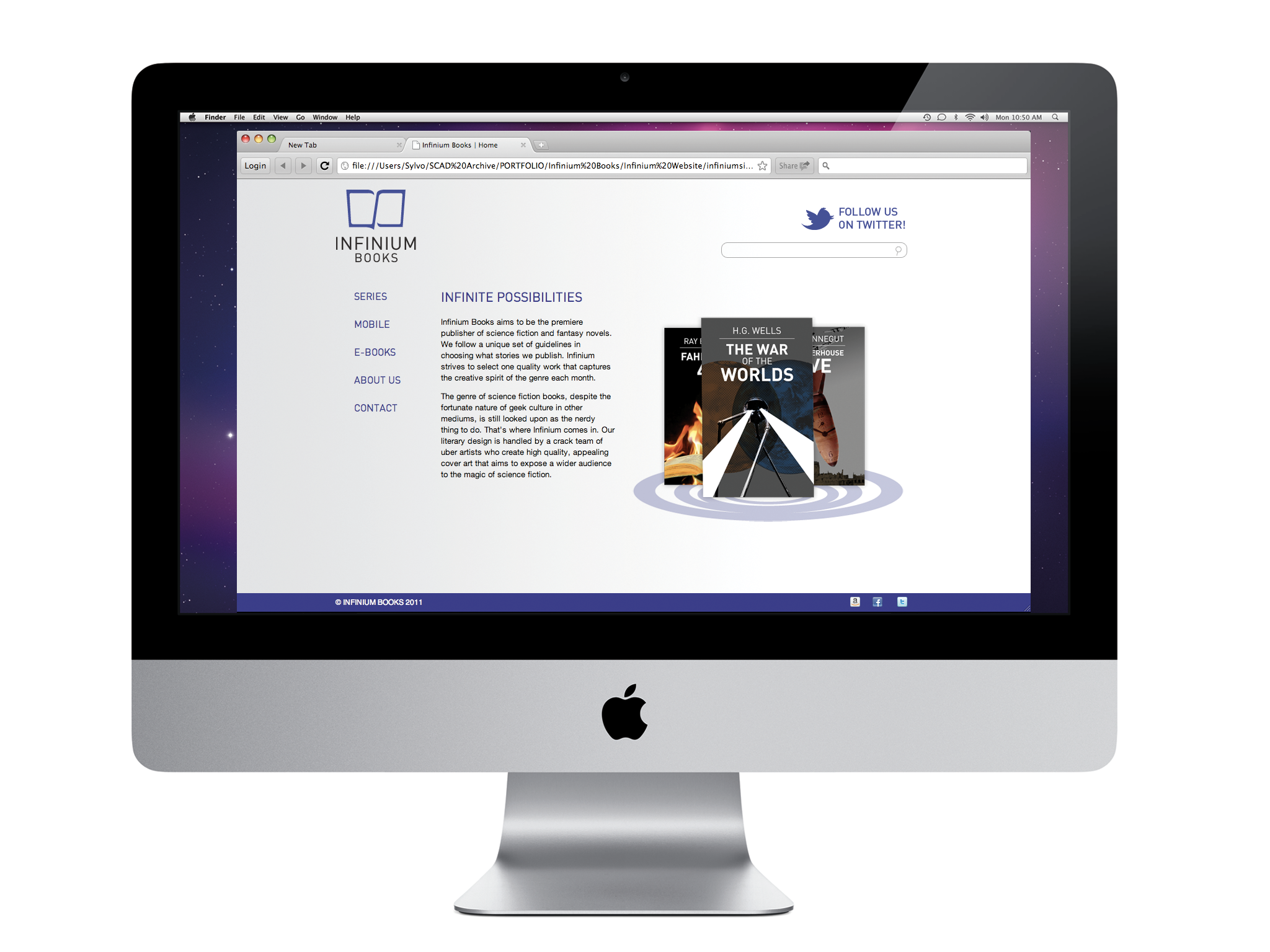 Original website design, 2011