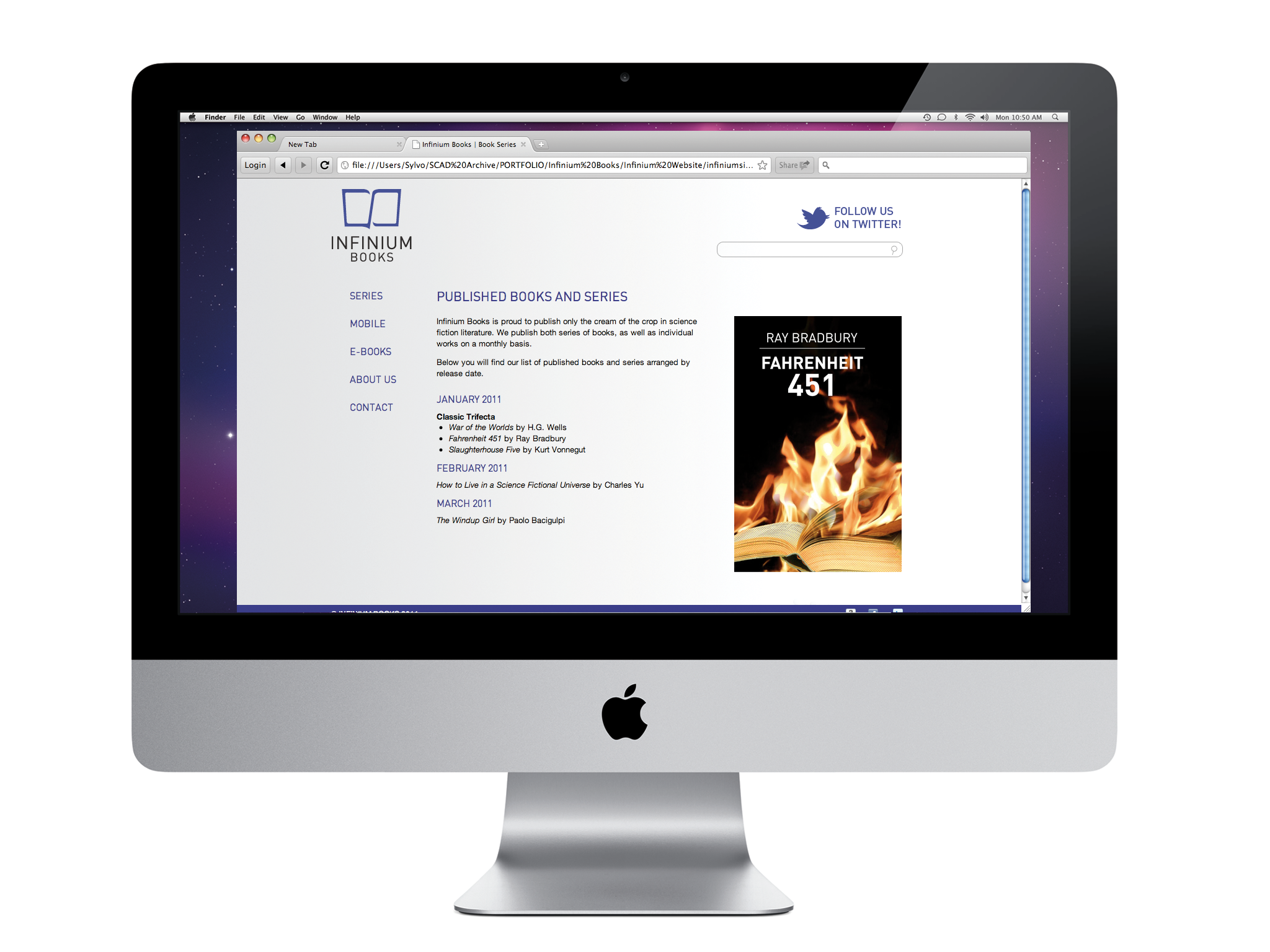 Original website design, 2011