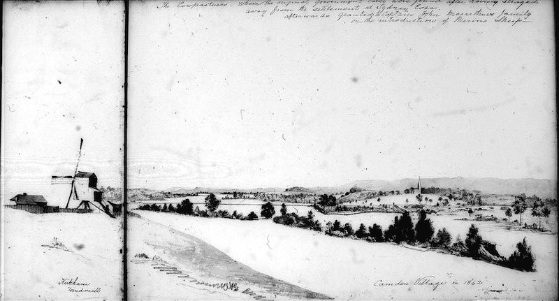 Thomas Woore Rough Sketch Kirkham Windmill 1842