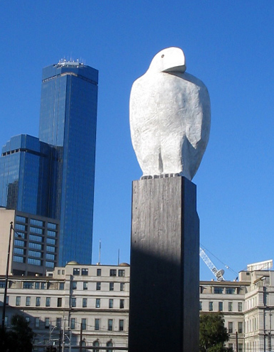 image:  Eagle  2002, located in the docklands, Melbourne,http://www.brucearmstrong.com.au/