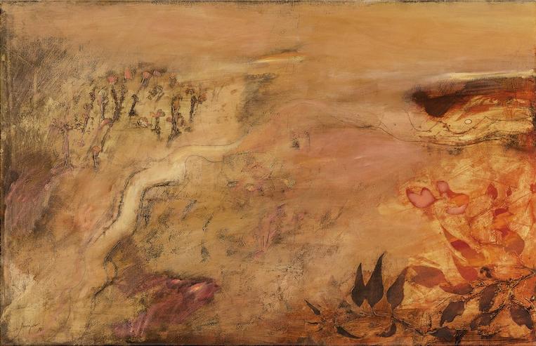 Robert Juniper Pink Landscape 1970