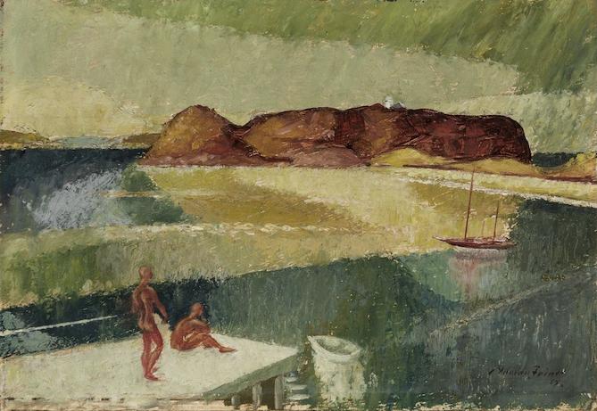 Adrian Feint Barrenjoey Point c1952