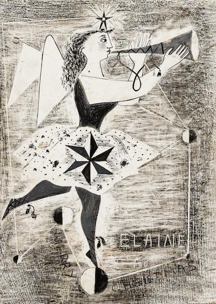 Elaine Haxton Design for Christmas Card c1950