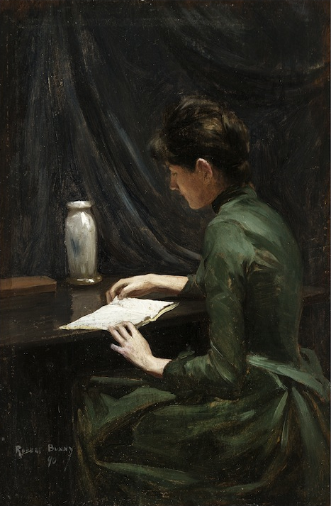 RUPERT CHARLES WULSTEN BUNNY (1864–1947) The Artist's Sister Hilda Reading 1890