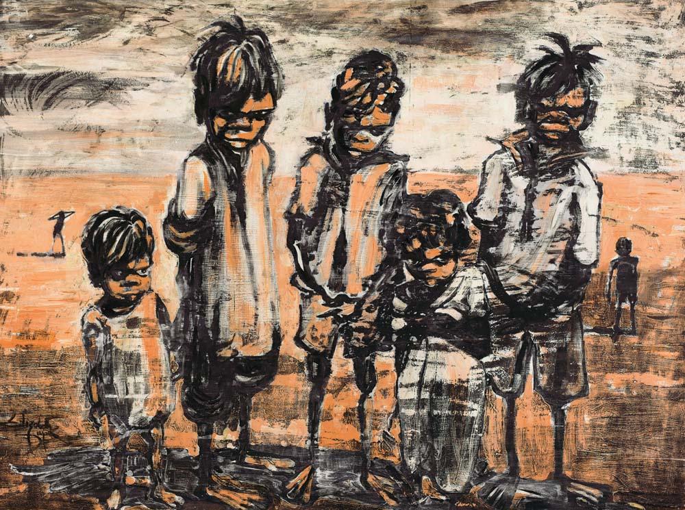 ELIZABETH DURACK (1915–2000) Children c1955