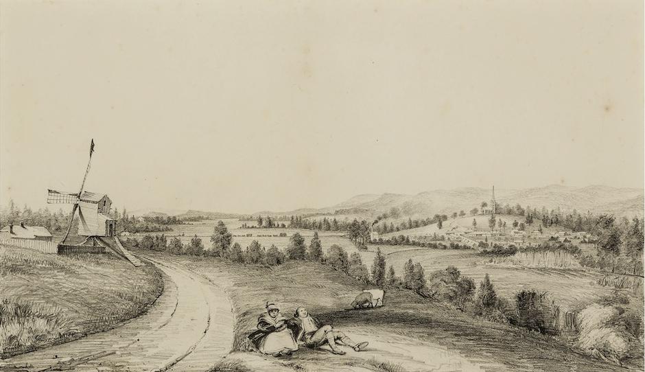 Thomas Woore, John Oxley's Kirkham Mill, Camden Village 1842