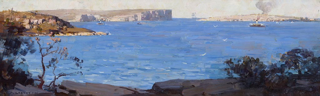 Arthur Streeton South Head Sydney oil painting