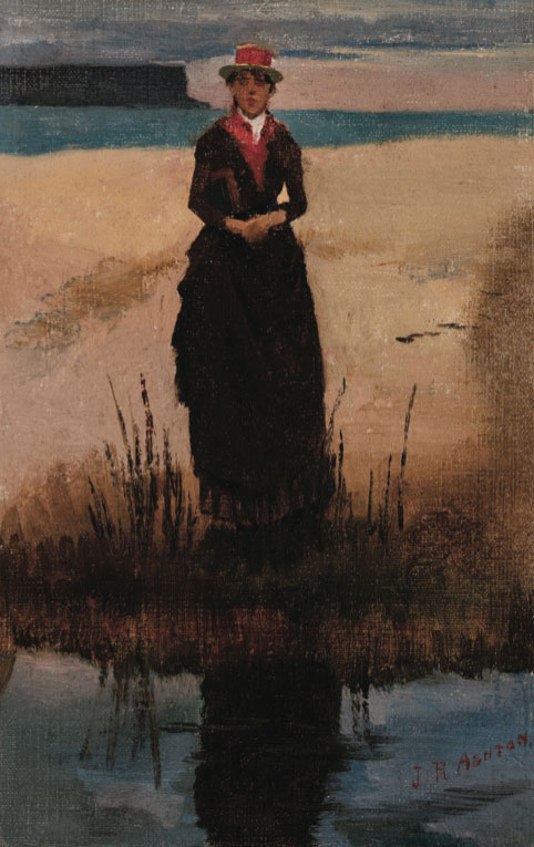 Julian Rossi Ashton Eliza Ashton 1890 oil painting art