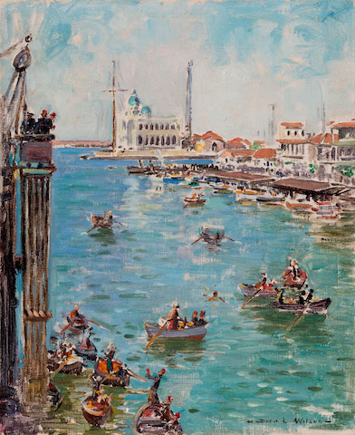 Dora Wilson Impression of Port Said from S. S. Hobson's Bay art