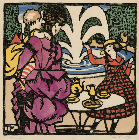 Thea Proctor The Fountain 1925 woodcut