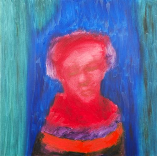 Sidney Nolan - Woman Oil on Board, 121.0 x 121.0 cm