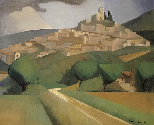Dorrit Black Mirmande Drome 1928 oil painting art