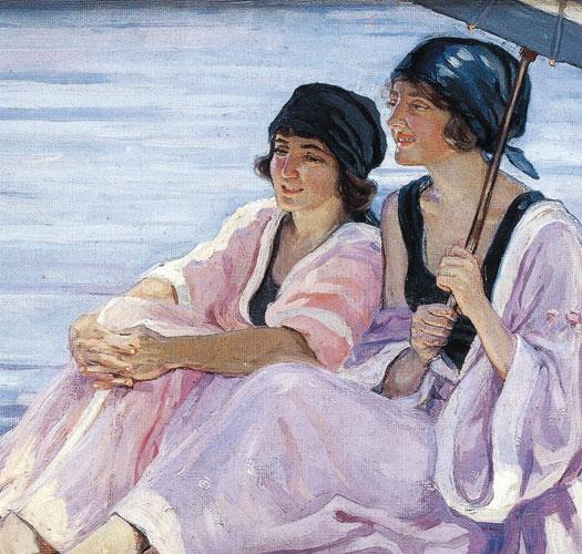 Hilda Rix Nicholas The Bathers c1920 oil painting art