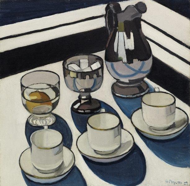 Margaret Preston Implement Blue 1927 oil painting still life