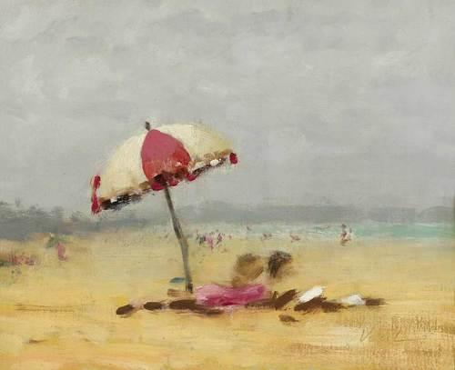 Hayward Veal, Beach Scene