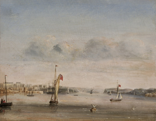 George Peacock, No.6 Port Jackson, NSW, View up the Harbour from Garden Island 1847