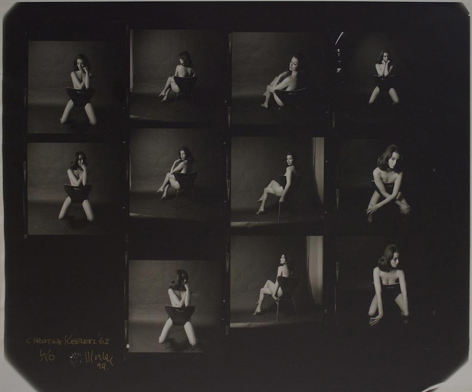LEWIS MORLEY - CHRISTINE KEELER (CONTACT SHEET), 1963