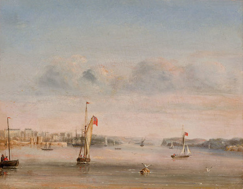 George Peacock - No. 6. Port Jackson, NSW, View up the Harbour from Garden Island 1847