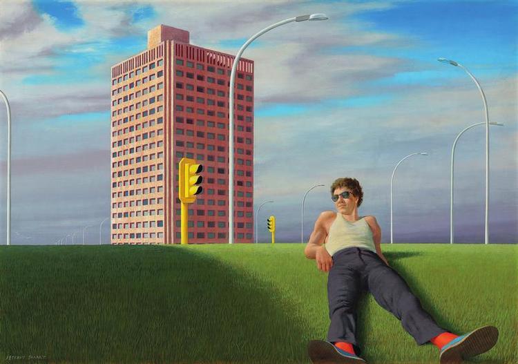Jeffrey Smart - North Sydney , 1978