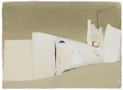Brett Whiteley - 6 arrondissement, 1989, gouache and collage on paper 55.5 x 76.0 cm