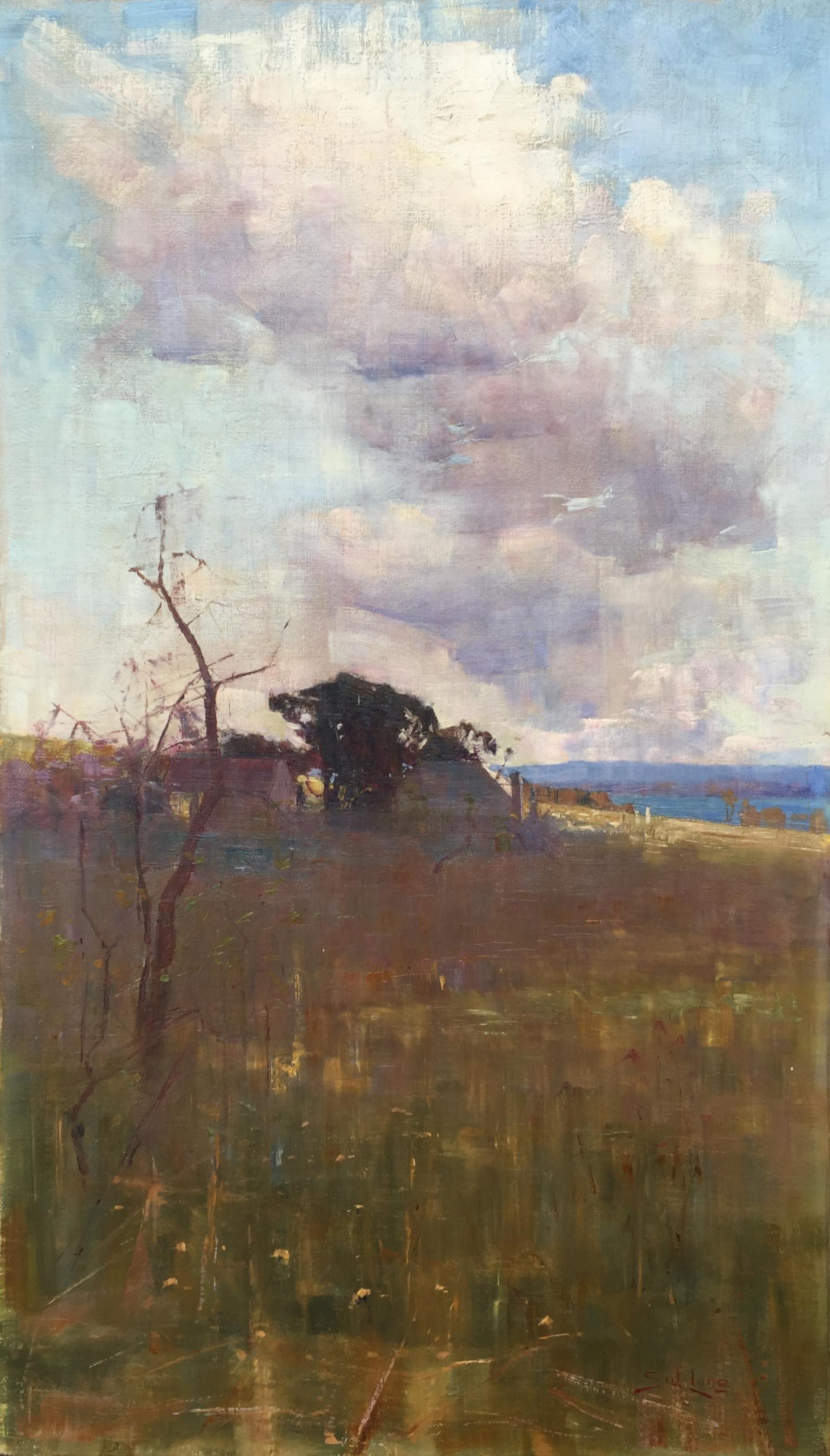Autumn, Richmond, New South Wales (Circa 1896) oil on canvas 69 x 39.6cm