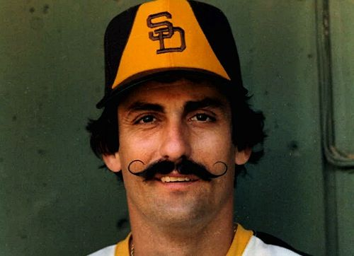 The one, the only, the great: Rollie Fingers. He looks good in the brown and yellow, doesn't he? We agree.