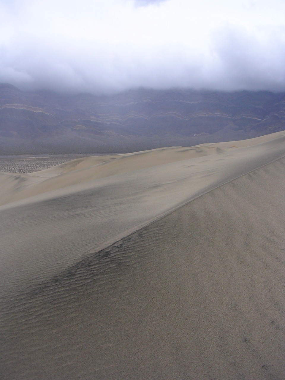 Crest of a dune in the Eureka Dunes, Death Valley NP.