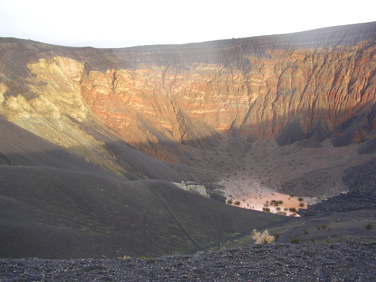 Ubehebe Crater, formed by a series of phreatic eruptions over 10,000 years ago.