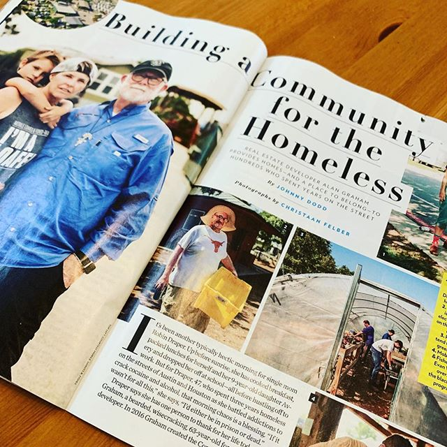 The work accomplished by @mobileloaves through #communityfirstvillage is unreal. Allan's vision has brought 15% of #austintx homeless off the streets and into permanent homes. Fifteen percent! We are excited to see him featured in @people and we are excited to support his mission through proceeds from all sales of @thebeardedsavant products. Thank you, Allan.