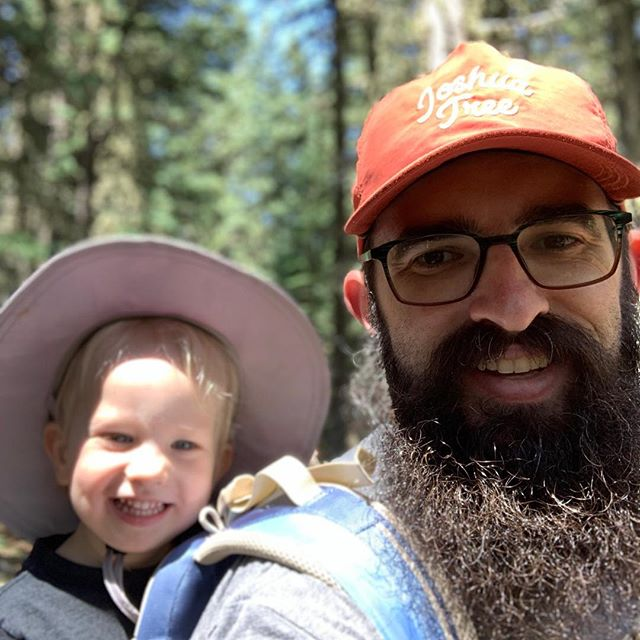 Fact: happy beards make happy people. Beards are happier outside. Ergo, getting outside makes you happier. Also a fact: this kid loves it outside.