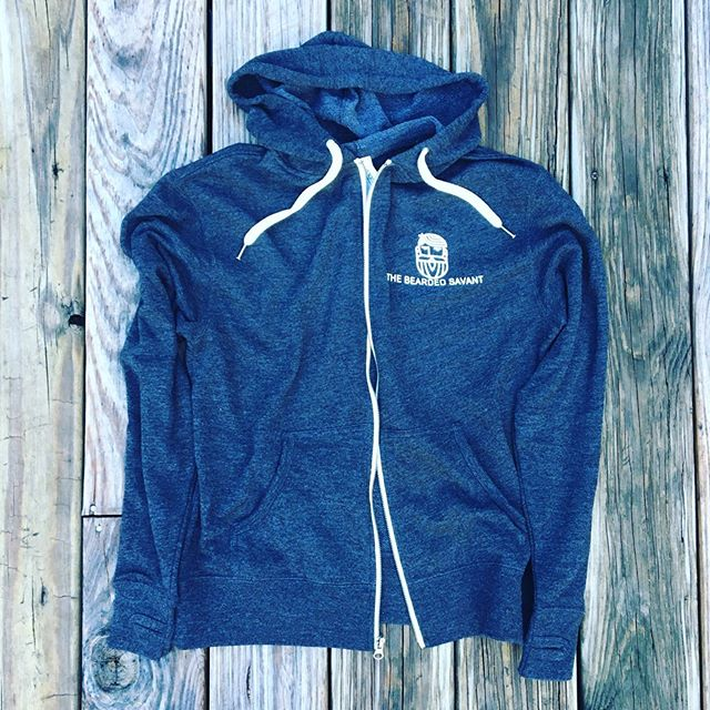 Cooler weather is coming, sooner for some than others. Perfect for a #fall evening, #autumn morning, or over-air conditioned office. Soft, warm, and comfortable. Even makes #pumpkinspice cool. #thebeardedsavant #hoodie