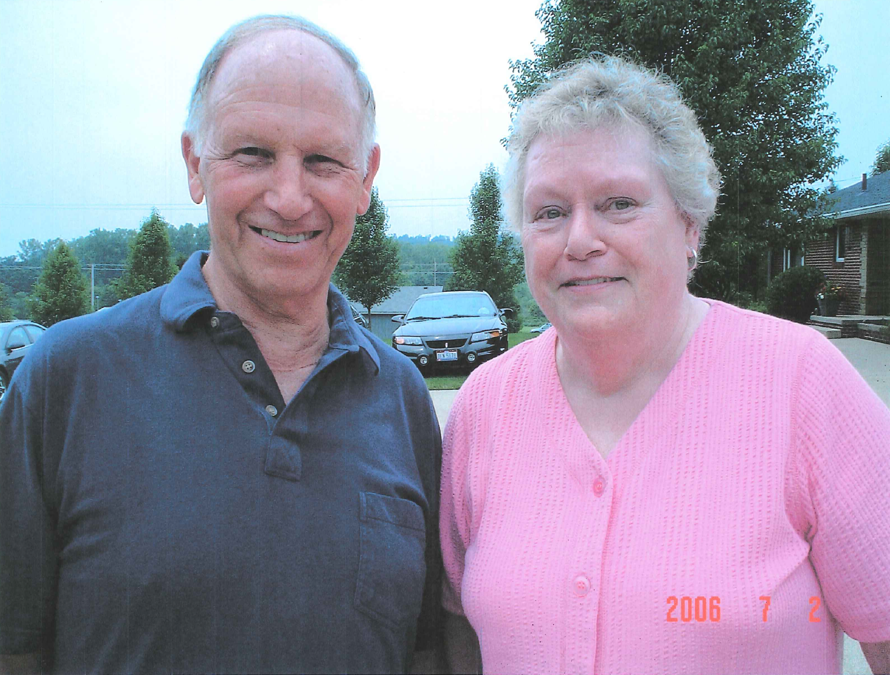 Pat (right) with husband, Harvey