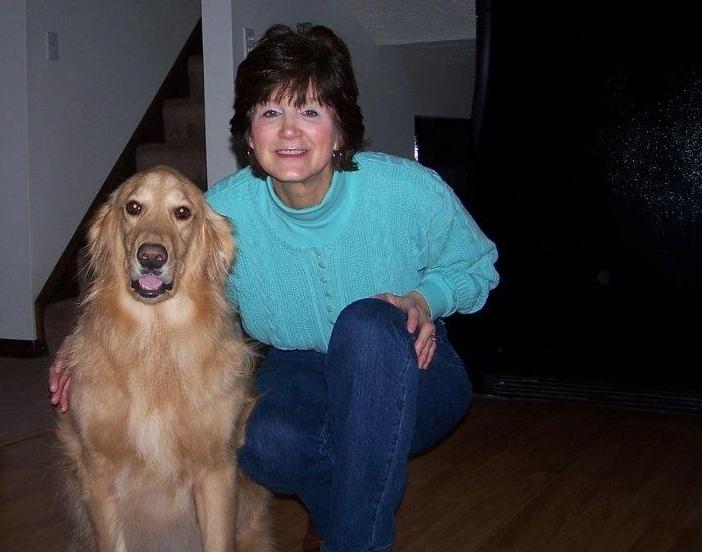Sherri with dog, Murphy