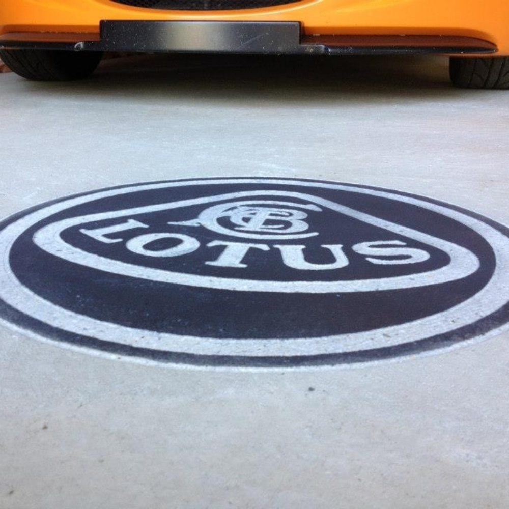 Lotus logo engraving