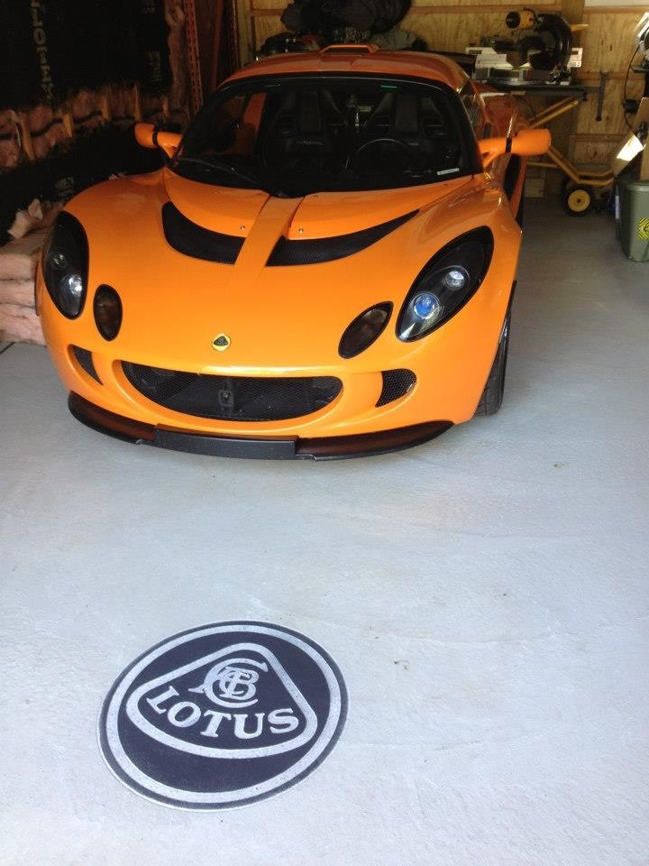 Lotus Logo Concrete Engraving