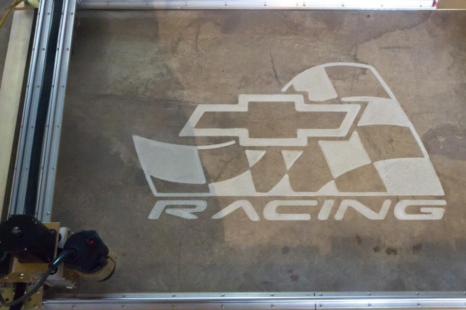 Chevy Racing Logo Engraving