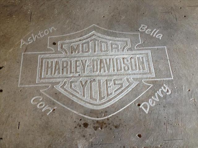 Harley Davidson Logo Engraving