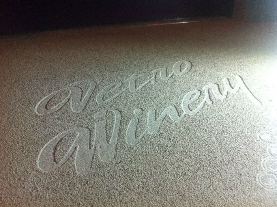 Winery business engraving