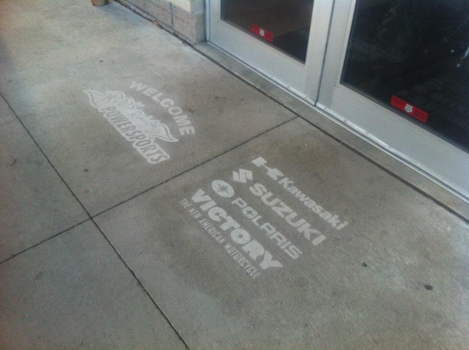 business entrance engraving