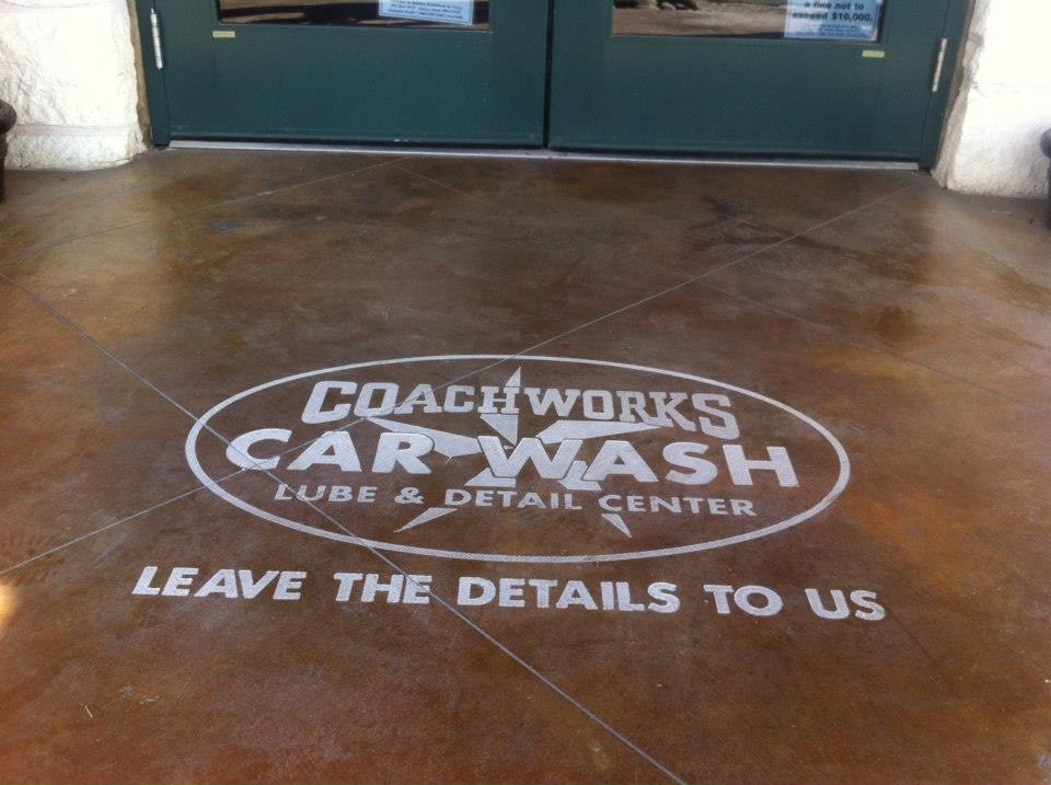 Coachworks logo engraving