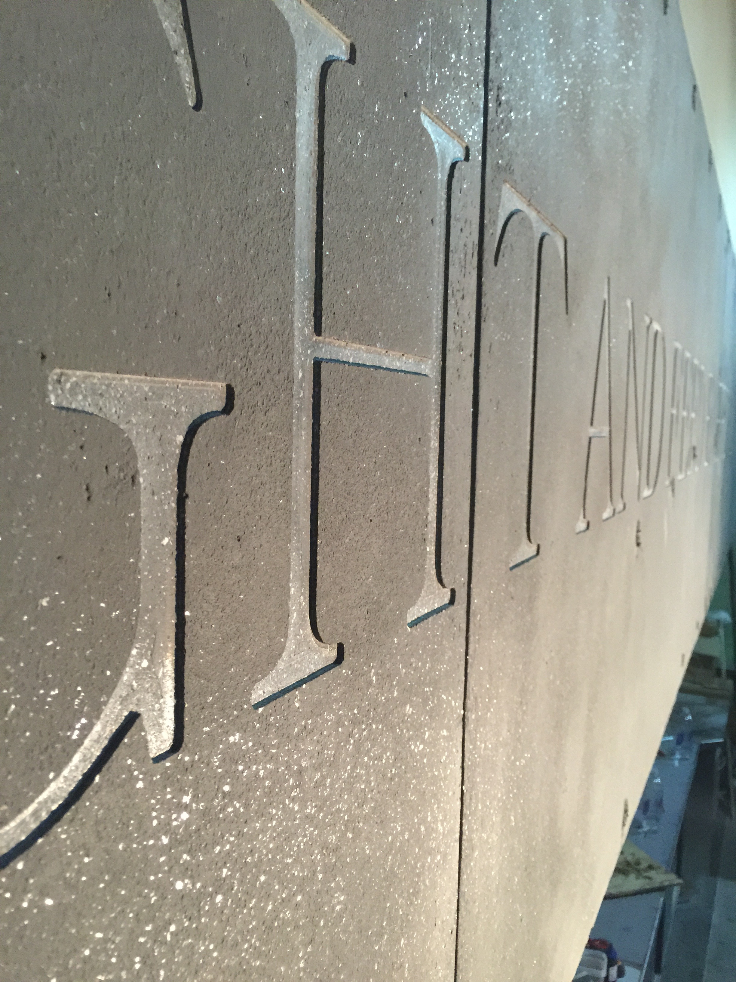 Vertical Engraving for Del Frisco Grille, Dallas Texas