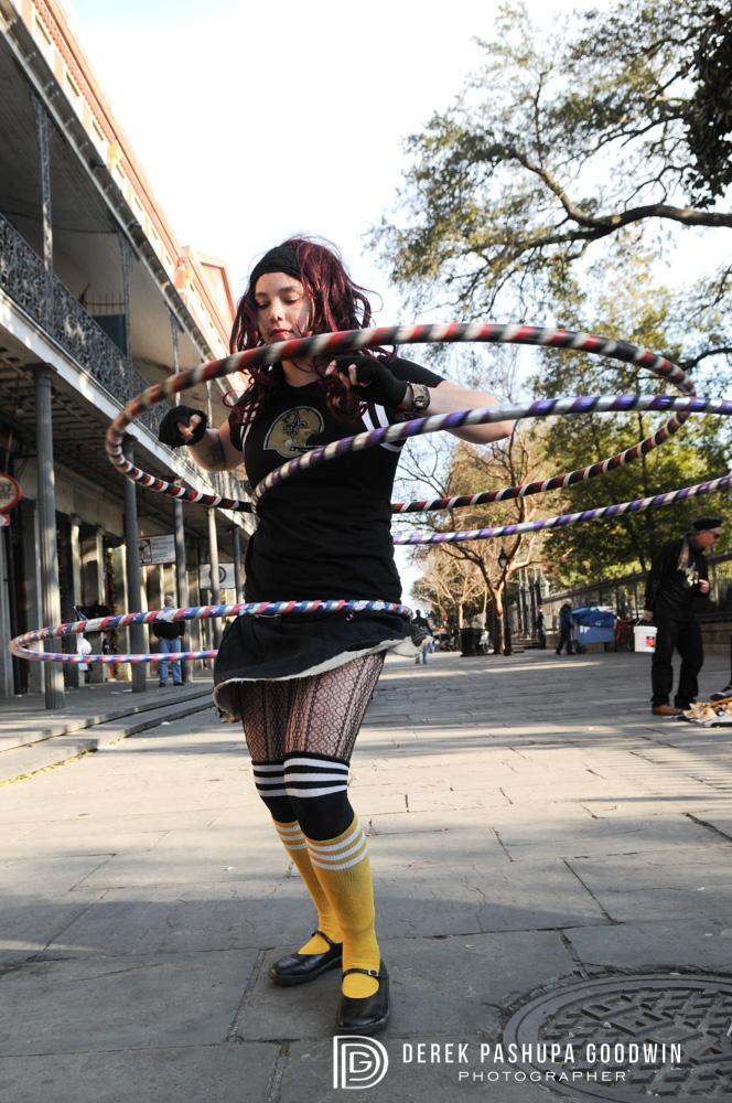 aviva with 3 hula hoops!