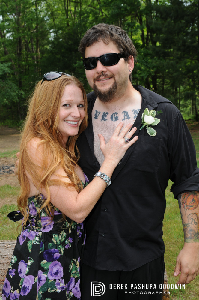 vegan best man and his leading lady