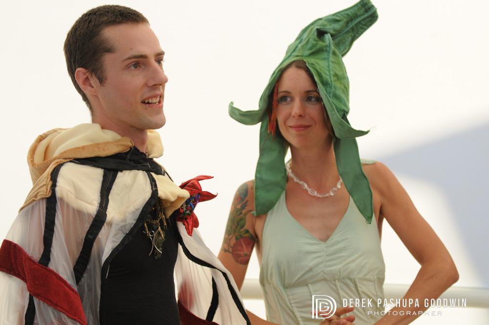 Ben and Sarah get married on the playa at Burning Man 2008