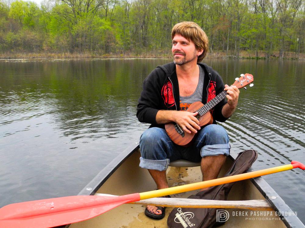 Pashupa on a rowboat at Omega