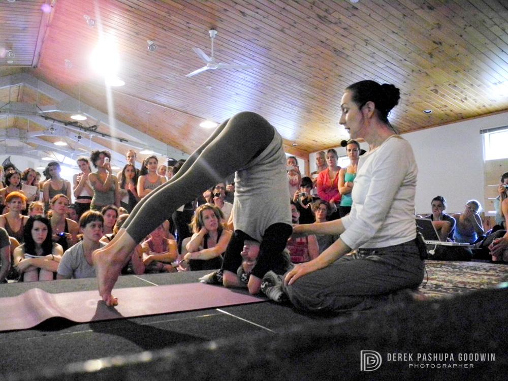 Sharon Gannon teaches headstand