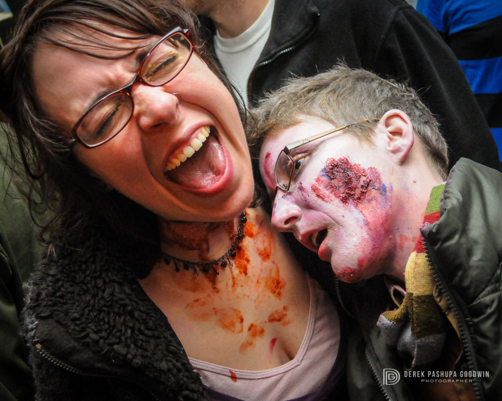Meredith and Gina show that vegan zombies are indeed capable of love