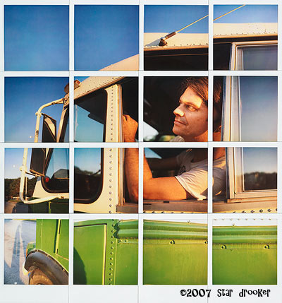Vegan Bus Polaroid Grid by  Star Drooker