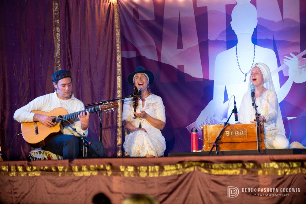 Stuart Fuchs, Sukhdev and Snatam Kaur at Sat Nam East Festival