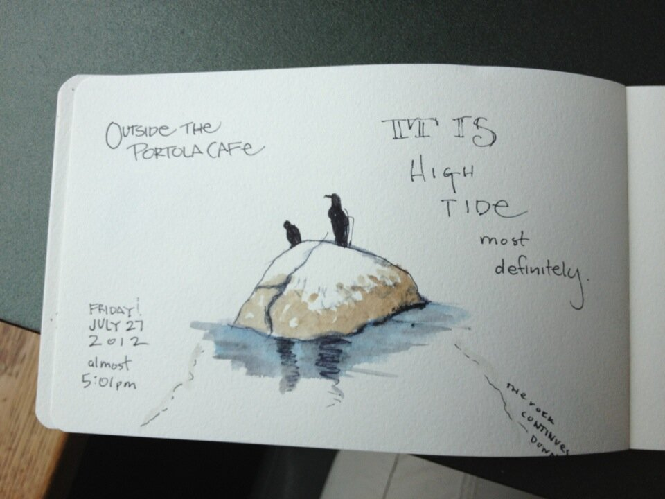 More sketching of the views around the aquarium. July 27th, 2012